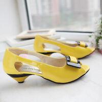 Fashion Women's Peep Toe Pumps Low Mid Kitten Heels Sandals Office Work Shoes