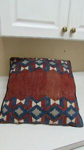 Kilim Lumbar Pillow,Handmade Throw Kilim Pillow,Decorative Pillow,Turkish Kilim Pillow,Home Decor Pillow,Wool Pillow,16x24 \u0130nch,40x60cm
