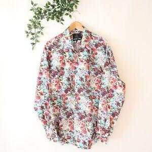 Curtis Men's Hawes & Curtis Long Sleeve Floral Print Button Front Shirt XL