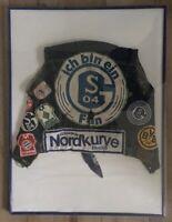 Alte Kutte Fussball Schalke Nordkurve Parkstadion Aufnäher Lois Jeans Weste