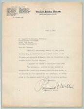 1943 US SENATOR RAYMOND E WILLIS Original SIGNED AUTOGRAPH Letter / INDIANA