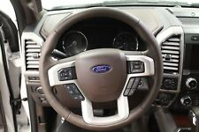 2018 OEM Ford King Ranch Steering Wheel - Java Leather w/Adaptive Speed Control