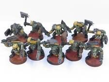 Ork Boyz X 10-Pintado Slugga chicos malos lunas Warhammer 40K Orks Ejército g2z