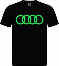 T-shirt Audi Leuchtet im Dunkeln Glow in the Dark Schwarzlicht Neon