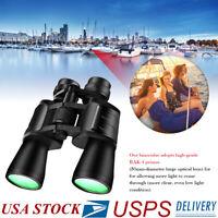 10-180x100 Zoom Binoculars Day/Night HD Outdoor Travel Hunting Folding Telescope