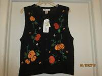 Arriviste Size Medium Women's Fall Pumpkin Sweater Vest