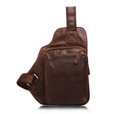 Small Men's Chest Pack 100% Genuine Cowhide Bag Leather Casual Retro Bags Cowboy