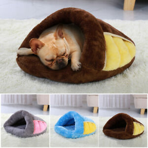Dog Cat Sleeping Cave Bed Soft Warm House Kennel Pet Puppy Winter Cave Nest Pink