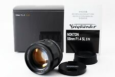 【Exc++++】Voigtlander Nokton 58mm f1.4 SL II N Lens For Nikon Ai-s w/Box 262438