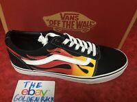 NIB Vans Old Skool Flames Print Multi Skate Shoe Black VN0A38DMK68 Size 8.5-13