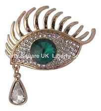 ORO Verde Eye SPILLA CON a forma di pera Teardrop / beautician / Ciglia # 654