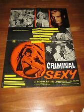 SOGGETTONE Jungle Street,CRIMINAL SEXY,Jill Ireland,Saunders, McCallum,1961