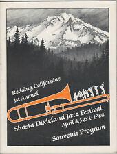 1986 Redding Ca 1st Annual Shasta Dixieland Jazz Festival Souvenir Program