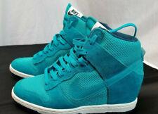 Nike Women's Turquoise Dunk Sky Hi 644877-300 Sz 6 Hidden Wedge