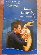 Mills and Boon Books - THE SEDUCTION BID - amanda browning