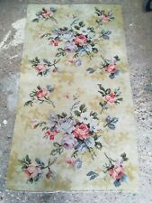 Vintage Small Rug/Mat Floral Design Size 49 X 27 Inches