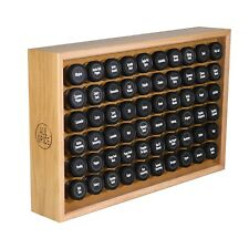 AllSpice Wooden Spice Rack, Includes 60 4oz Jars, Walnut, Cherry, Maple and more