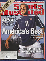 CLINT MATHIS SIGNED SPORTS ILLUSTRATED COVER TEAM USA 2002 WORLD CUP SOCCER JSA