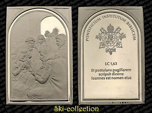 Médaille de VATICAN. Pontificium Institutum Biblicum. Argent/ Silver 999°-26,4 g