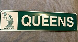 Disney Store Minnie Mouse New York City Liberty QUEENS Metal Street Sign
