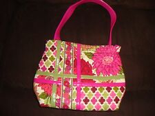 "VERA BRADLEY TOTE ""HELLO DAHLIA"" PINK FLORAL NEW WITHOUT TAGS"