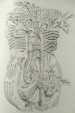 Vintage Manx Norton 500cc Desmodromic engine exploded diagram collectables