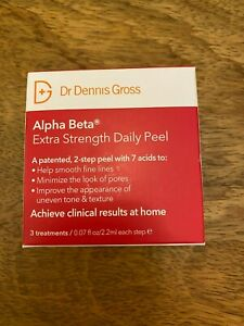 DR DENNIS GROSS ALPHA BETA EXTRA STRENGTH DAILY PEEL - 3 PACK IN BOX