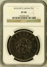 Very Rare 1877 Japan Silver Dragon Trade Dollar NGC XF40