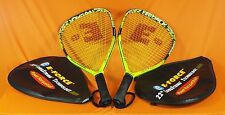 Lot of 2 - E-Force Payback Racquetball Racquets with Covers & New Grips - Euc