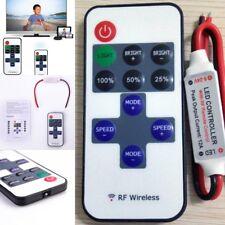 LED RF Wireless Mini Remote Dimmer Controllers 12V RF Wireless Remote Single Clr