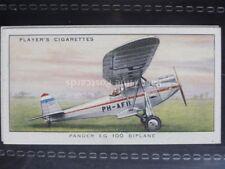 No.49 PANDER EG. 100 BIPLANE (HOLLAND) - Aeroplanes, Civil - John Player 1935