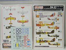 """Estampado de Havilland dh.82 Tiger Moth """"international"""", AZ, 1:72, decal, nuevo"""