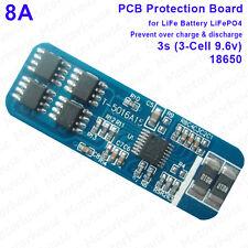 Cellule 3S lifepo 4 batterie 18650 bms pcm 8A actuel protection circuit module board