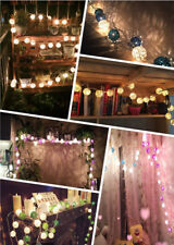 20 LED Warm White Cotton Ball Fairy String Lights Party Wedding Garden Patio