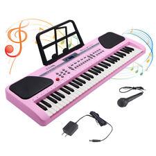 61 Key Music Electronic Keyboard Electric Digital Piano Organ Pink US