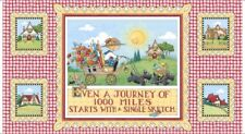 """QT Fabrics Mary's Journey by Mary Engelbreit 26547 X 24"""" Panel  Cotton Fab"""