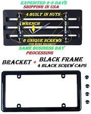 Front Bumper License Plate Bracket + Black Frame for TOYOTA