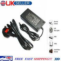 12V 5A CCTV Power Supply Adapter For CCTV Security DVR Camera Router UK DC Plug