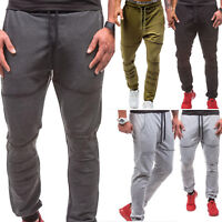 Mens Sweat Pants Gym Workout Exercise Fitness Jogging Training Baggy Trousers