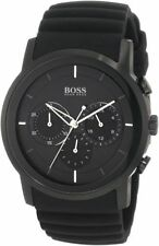 HUGO BOSS MEN'S BLACKOUT CHRONOGRAPH 1512639 BLACK ION PLATED CASE