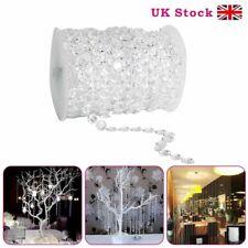 30m Acrylic Crystal Bead Garland Diamond Strand Curtain Wedding Party Decor