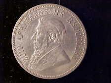 SOUTH AFRICA KRUGER 5 SHILLINGS 1892, SINGLE SHAFT, EF CLEANED