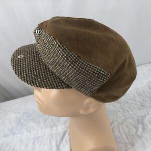 Vtg Suede Newsboy Hat Size 7 Cabbie Cap Resistol  70's