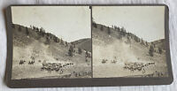 Conquered at Last –Butte Montana – N.A. Forsyth Early 1900s Stereoview Slide