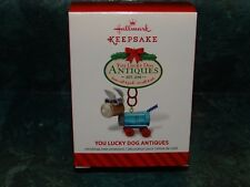 """HALLMARK CHRISTMAS ORNAMENT-NEW  """"YOU LUCKY DOG ANTIQUES"""" 2014-T5850"""