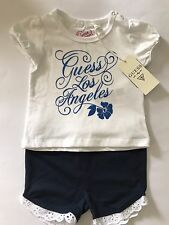 BNWT Guess Baby Girl Designer T Shirt Short Set 6/9m