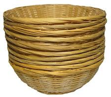 """10 x il pane in bambù Rotondo frutta in vimini cesto regalo Cesto vassoio di visualizzazione - 12"""""""