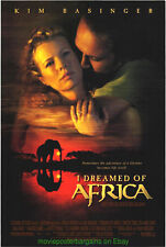I DREAMED OF AFRICA & MY STEPMOTHER IS A ALIEN MOVIE POSTER KIM BASSINGER
