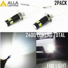 Alla Lighting LED H3 Pure White LED Fog Light Bulb Driving Lamp for Subaru Lexus
