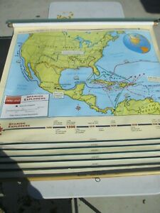 NYSTROM SCHOOL 6 LAYER PULL DOWN Texas & US History Markable 51 X 51 MINT